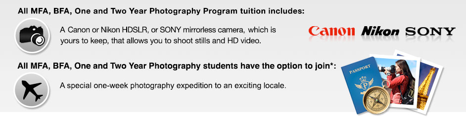 Program tuition includes an HDSLR camera and exotic one-week trip