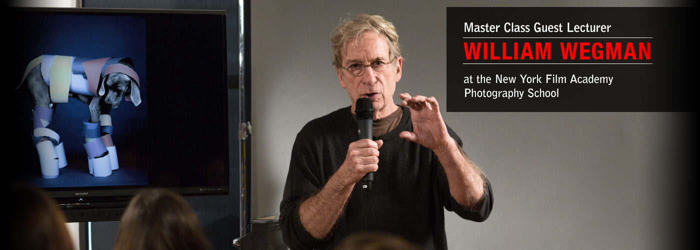 Master Class Guest Lecturer William Wegman at NYFA Photography School