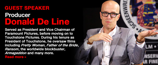 NYFA Guest Speaker Producer Donald De Line