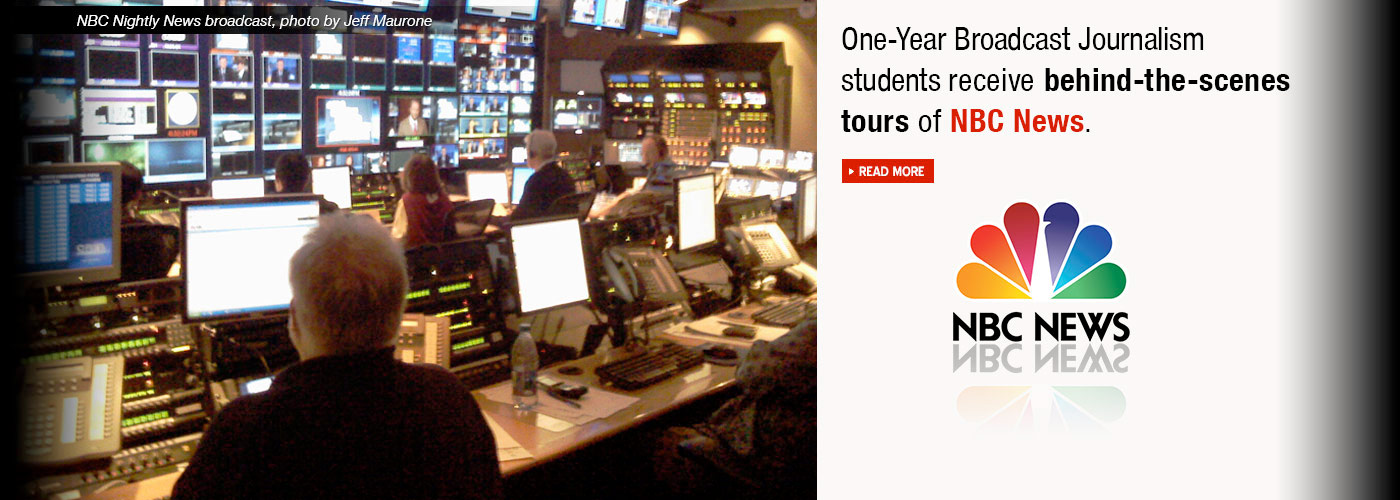 One-Year Broadcast Journalism students receive behind-the-scenes tours at NBC and Fox News
