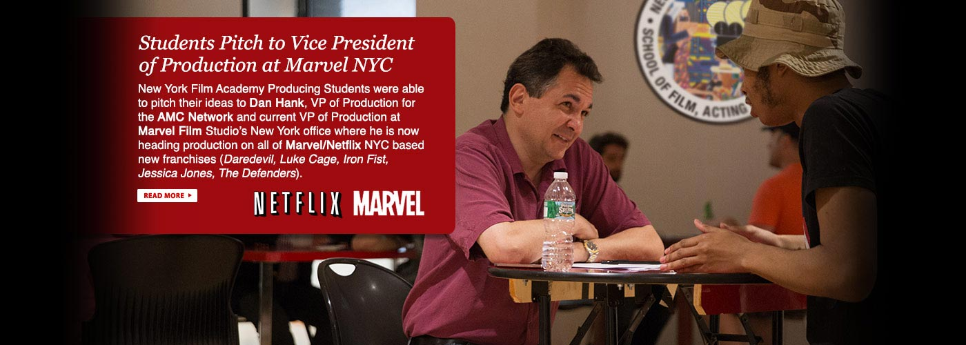 Students Pitch to President of Production at Marvel NYC