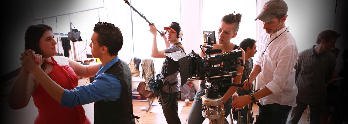 NYFA students dancing on film for an original film