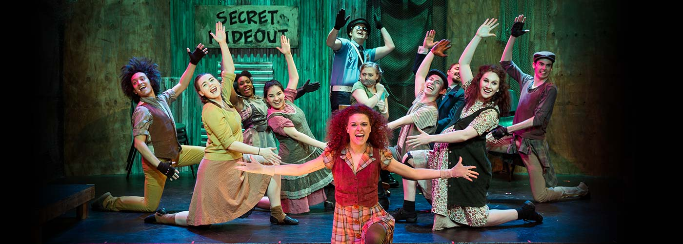 NYFA musical theatre students perform 'Urinetown' on stage