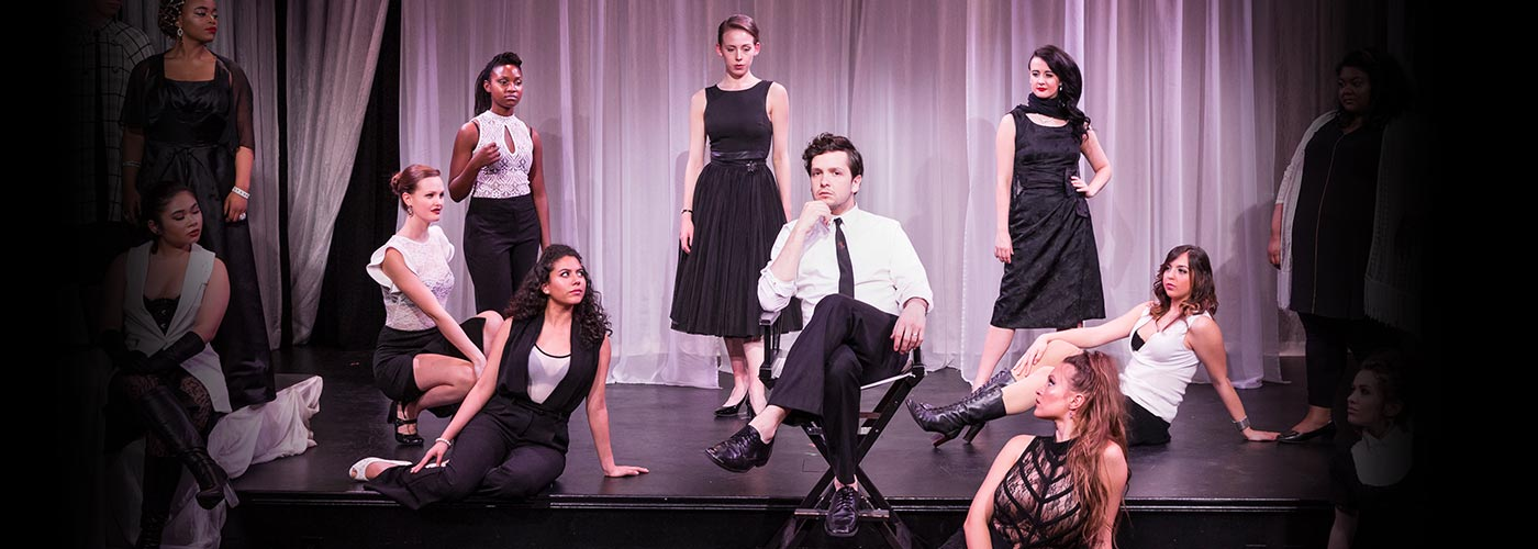 NYFA Musical Theatre students performing 'Nine' on stage
