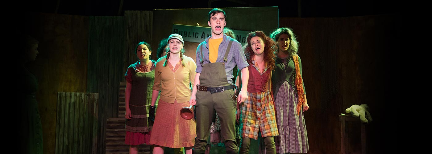 NYFA student ensemble sing in 'Urinetown'