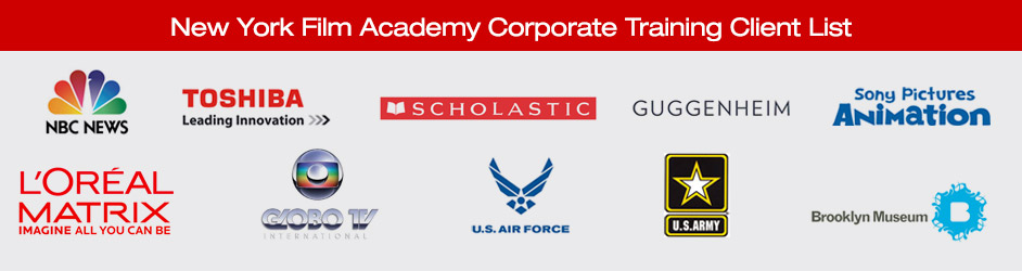 New York Film Academy Corporate Training Client List