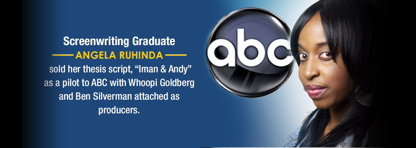 NYFA screenwriting graduate Angela Ruhinda is featured for selling her thesis to ABC.