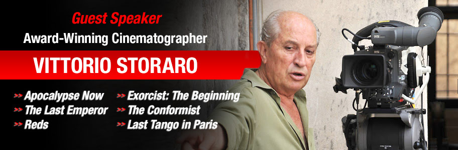 NYFA guest speaker award-winning cinematographer Vittorio Storaro
