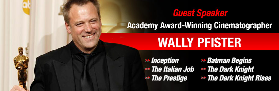 NYFA guest speaker Academy Award-winning cinematographer Wally Pfister