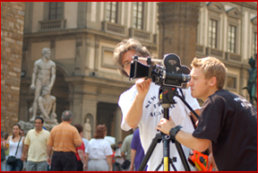 NYFA students film in the streets of Florence, Italy
