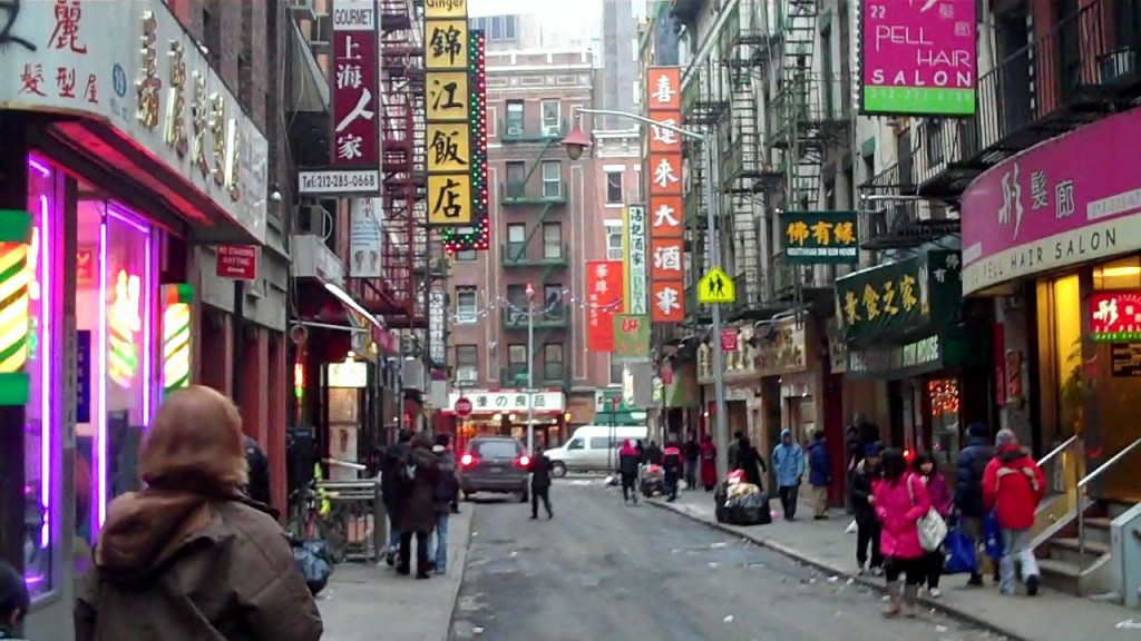 A side street in Chinatown NYC