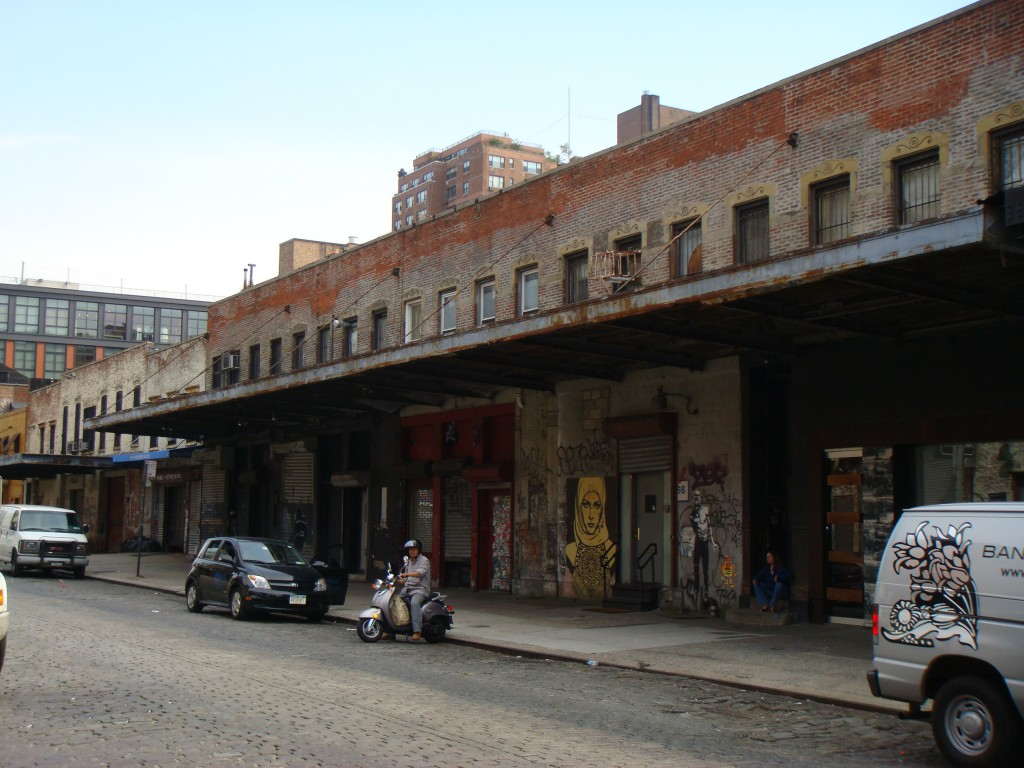 An old packing building in the meatpacking district