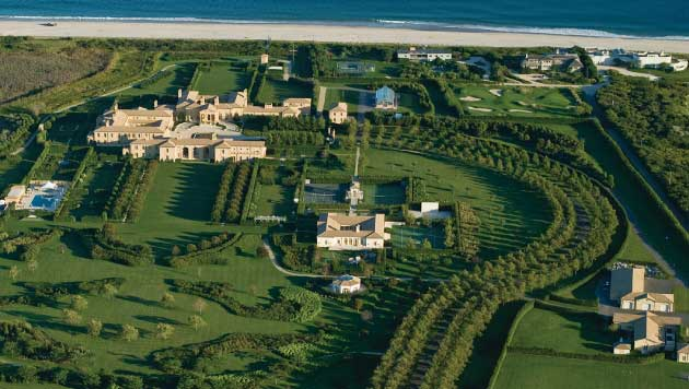 An aerial view of the Hamptons