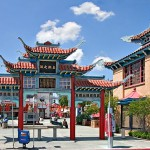 The East Gate opening up to Chinatown in Los Angeles