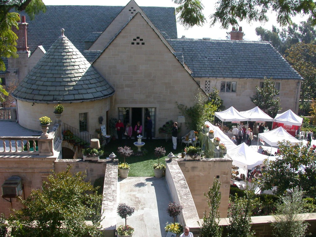 The exterior of Greystone Mansion in Beverly Hills
