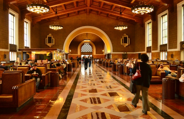 The interior of Union Station Los Angeles