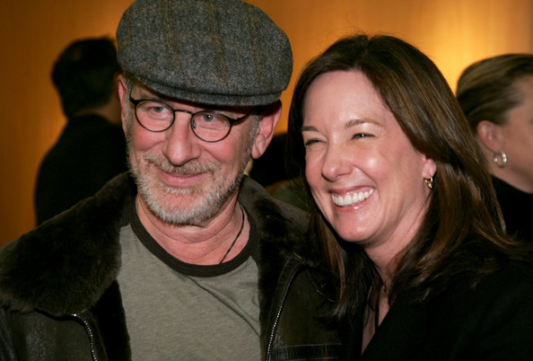 Producer Kathleen Kennedy with Steven Spielberg