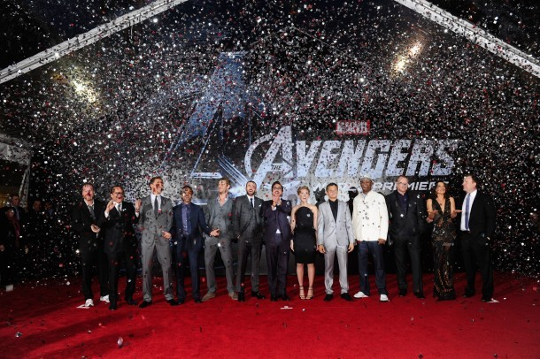 The cast of the Avengers on the red carpet