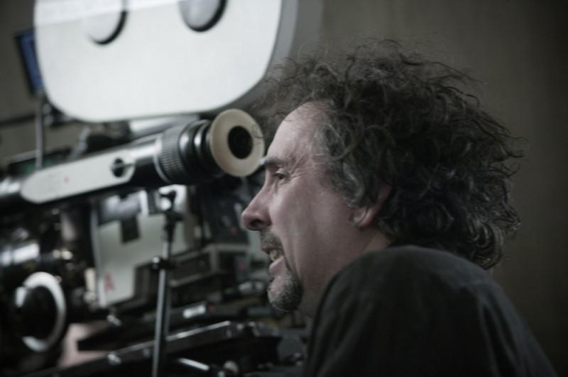Tim Burton behind the camera