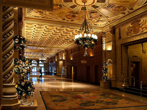 The entryway of the Millenium Biltmore Hotel