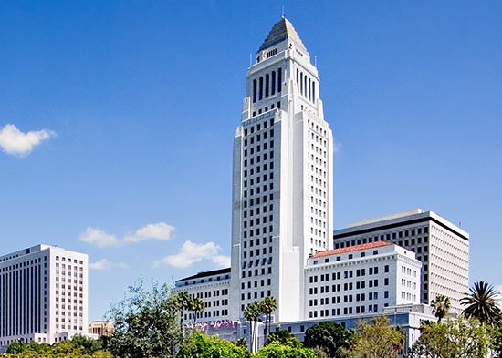 The exterior of Los Angeles City Hall