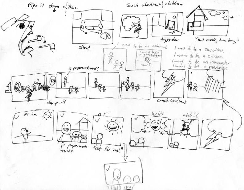 Kids filmmaking storyboard