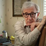 Screenwriting master Woody Allen at his desk