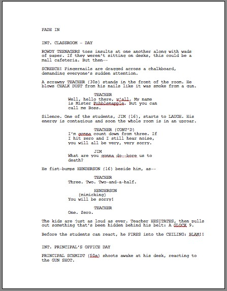 Screenplay Template Sample Novel Script Writing Template Script