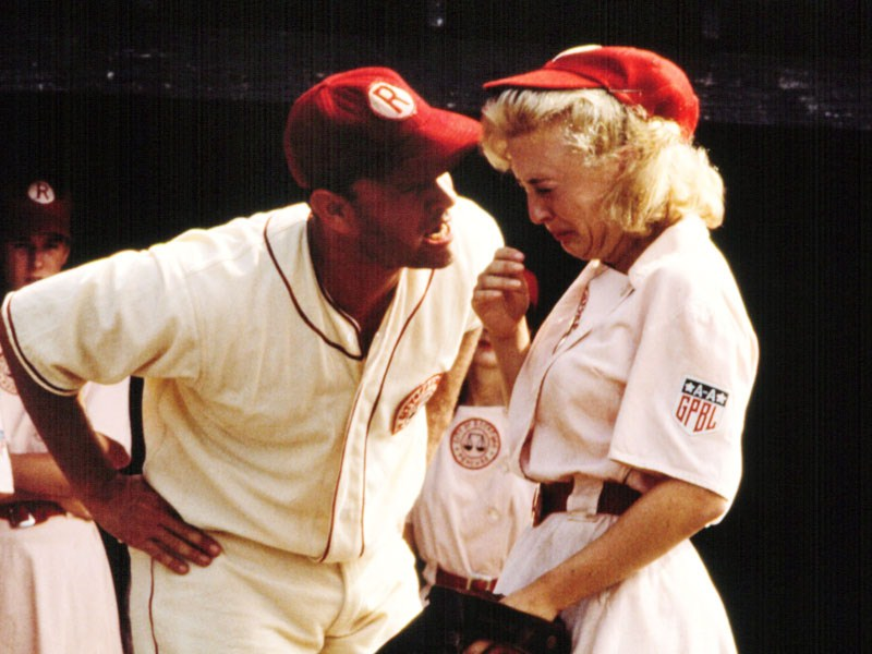 Tom Hanks yeling in A League of Their Own