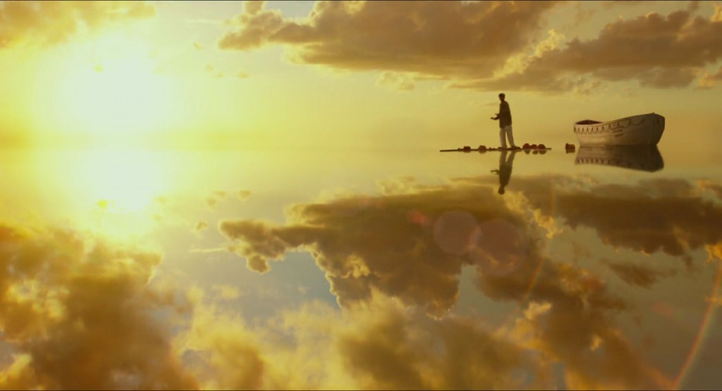 A sunlit scene from Life of Pi