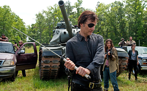 The governor with a sword in The Walking Dead