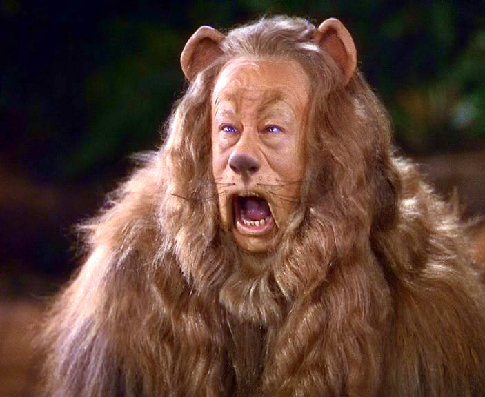 The Cowardly Lion's distinct cry