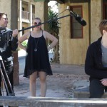 MFA Acting students filming a scene