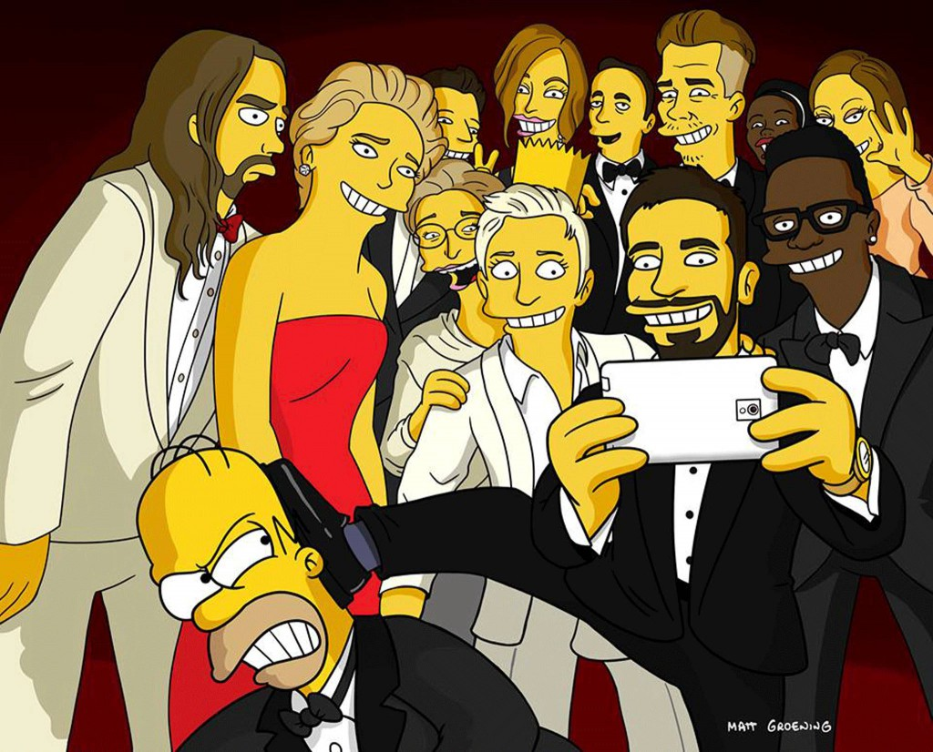 The Simpsons Oscar selfie spoof