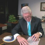 Bill Clinton doing a crossword puzzle in Wordplay