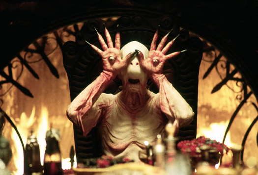 Eyeballs in hands in Pan's Labyrinth