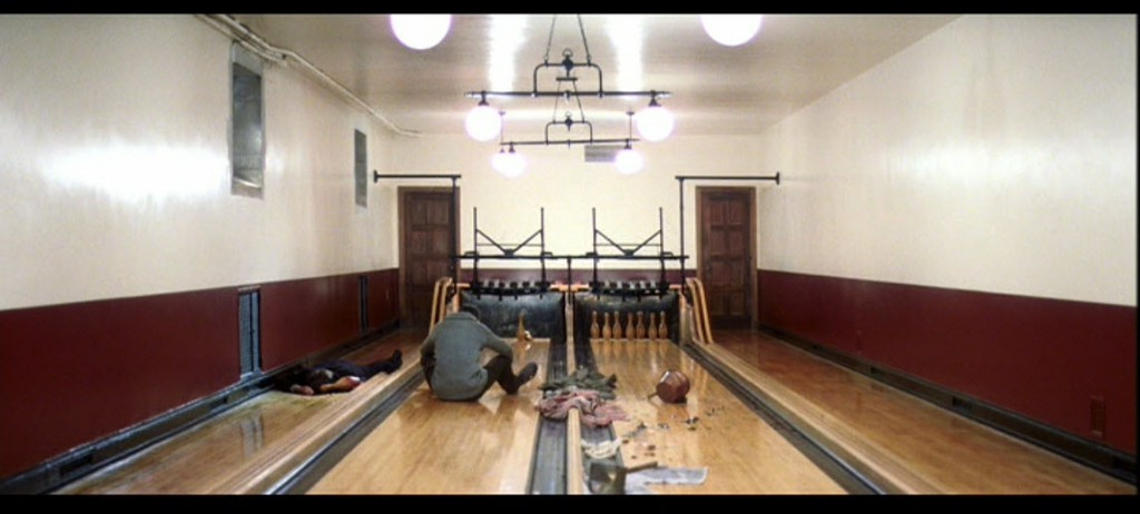 The bowling alley scene in There Will Be Blood