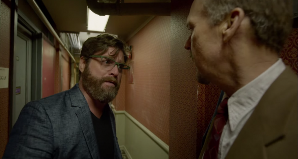 Zach Galifinakis and Michael Keaton in Birdman
