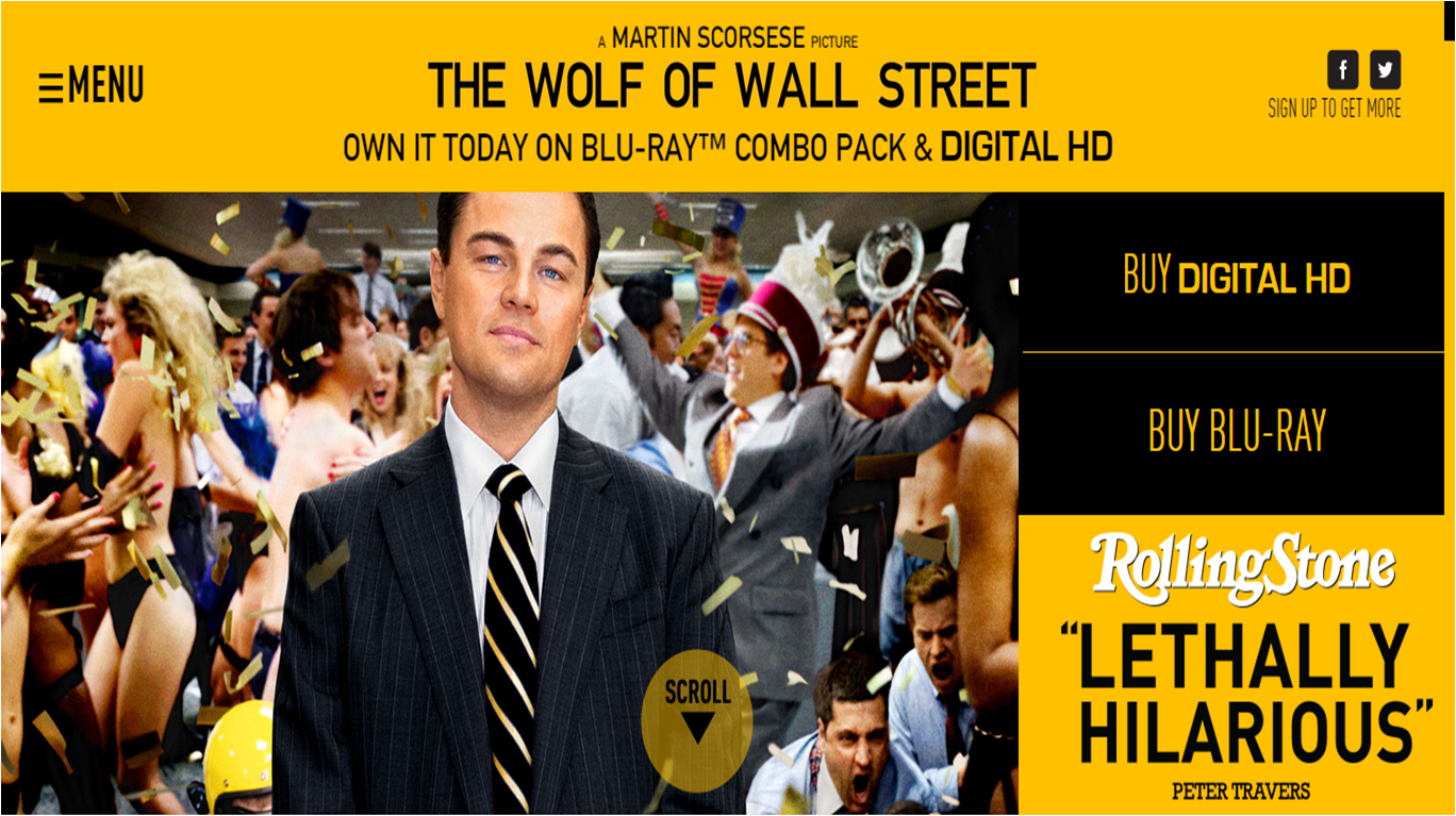 Wolf of Wall Street website