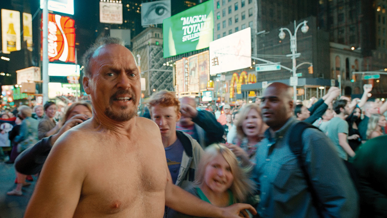 Michael Keaton shirtless in Birdman