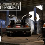 Back To The Future's DeLorean Made of Photographs
