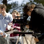Students shoot a scene at NYFA