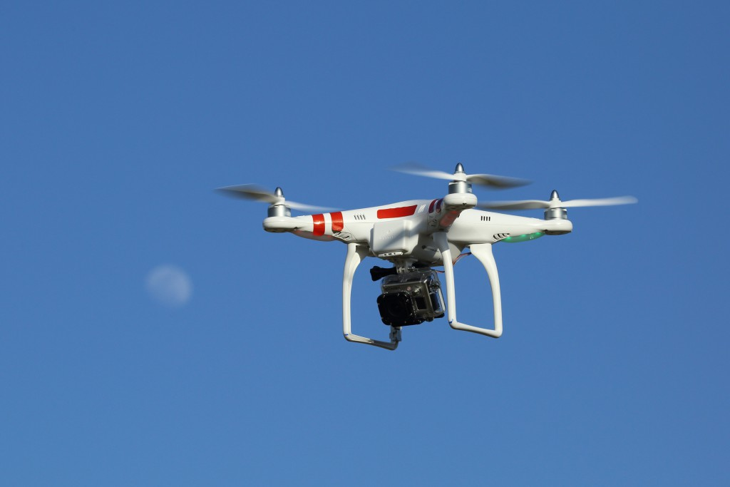 Drone with GoPro digital camera