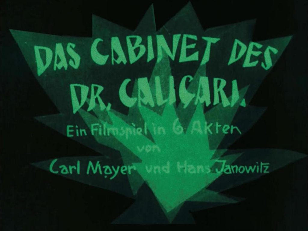 Title card from The Cabinet of Dr. Caligari