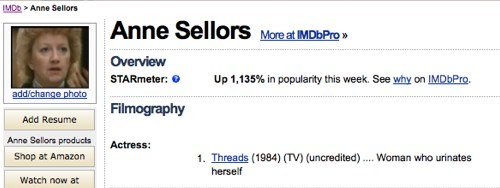 anne sellors imdb profile