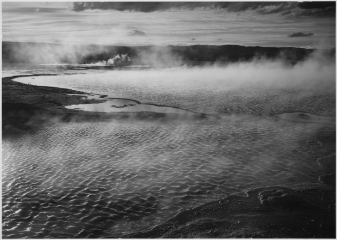 Ansel Adams picture of water