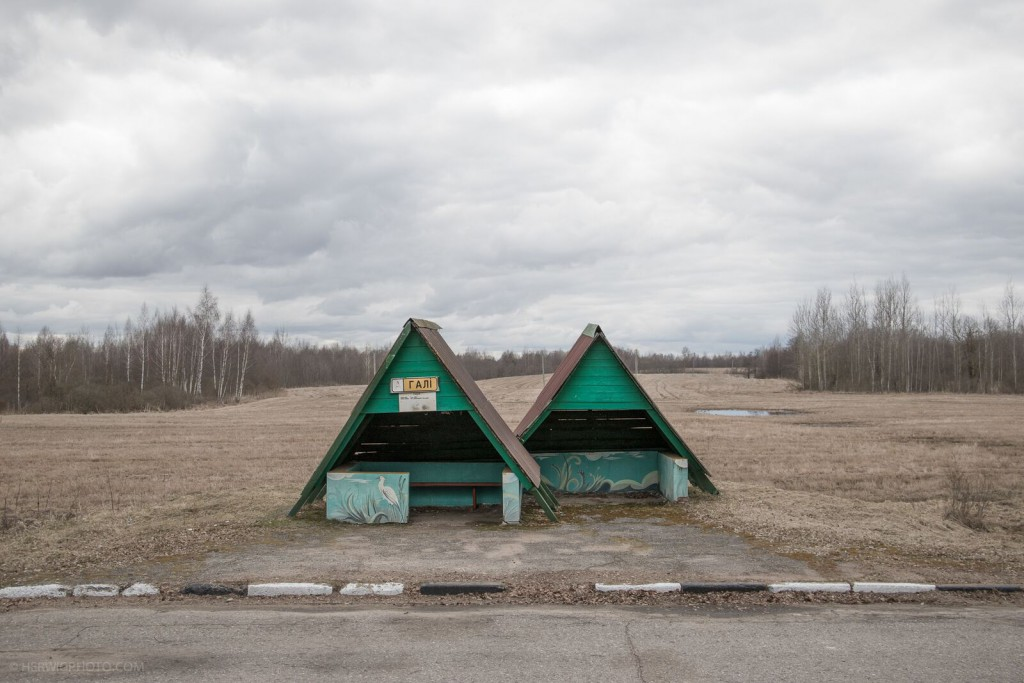 two soviet bus stops