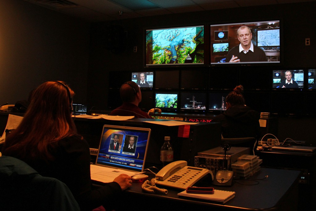 control room during live shoot
