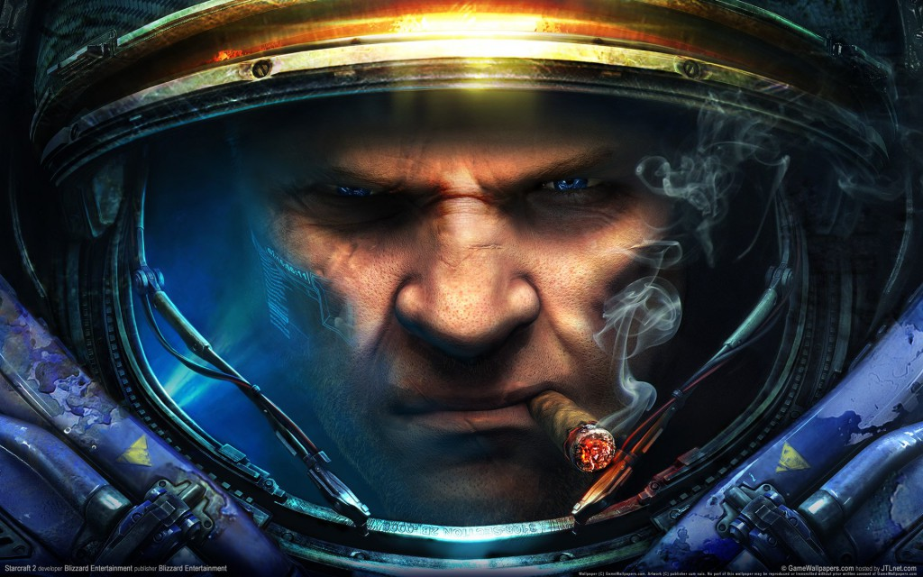 Character's face from Starcraft 2