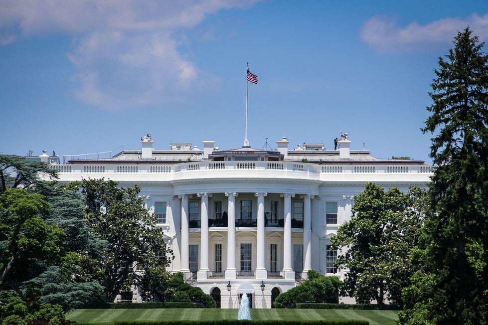 White House and front yard